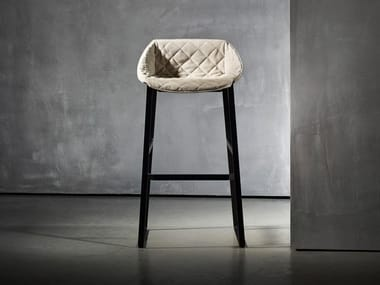 Upholstered stool KEKKE LIVING | Stool with back