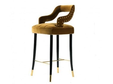 High upholstered velvet stool with back KELLY | Stool with back