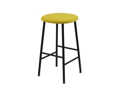 Upholstered powder coated steel barstool KENDO | Barstool