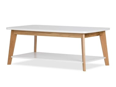 Lacquered rectangular wooden coffee table KENSAL NORDIC | Coffee table