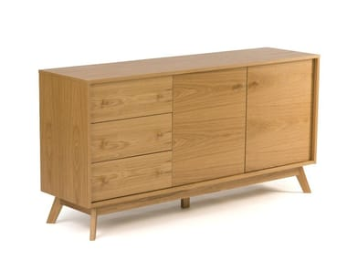 Wood veneer sideboard KENSAL | Sideboard with drawers