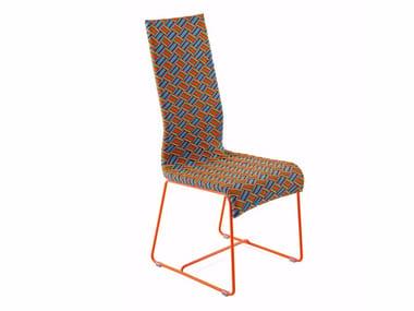 Sedia con schienale alto e rivestimento in fibra sintetica KENTE | Sedia con schienale alto