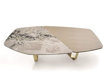 Marble and wood table KEOPE