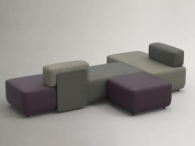 Sectional fabric leisure sofa KEOPE