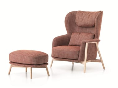 Bergere armchair with removable cover KEPI | Bergere armchair