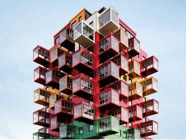 System für Vorhangfassade aus Keramikmaterialien KERATWIN® K20 / K18