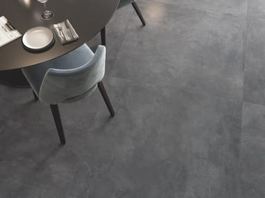 Porcelain stoneware wall/floor tiles with metal effect KERINOX