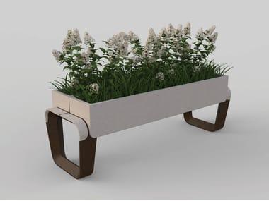 Rectangular reconstructed stone Flower pot KEY | Flower pot