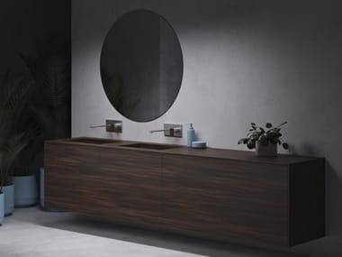 Mobile lavabo sospeso in Corian® con cassetti KEY ISLAND