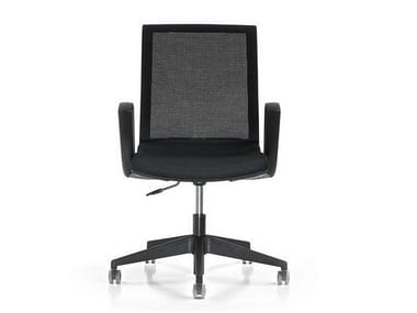 Task chair with 5-Spoke base with casters KEY | Task chair with armrests