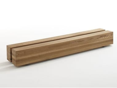 Ash garden bench with integrated planter KEY WEST | Garden bench