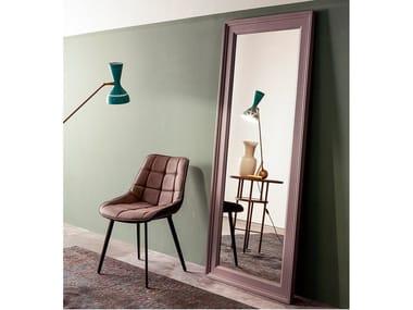 Freestanding rectangular solid wood mirror KEYSTONE