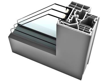 Aluminium and PVC triple glazed window KF 320