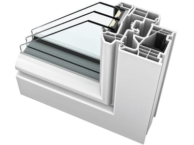 PVC triple glazed window KF310 | PVC window