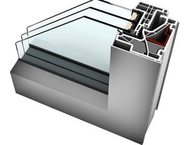 Aluminium and PVC triple glazed window KF 500
