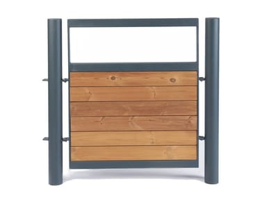 Steel and wood pedestrian gate KFC | Gate