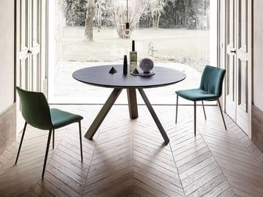 Tavolo da pranzo con base in metallo KI | Tavolo rotondo