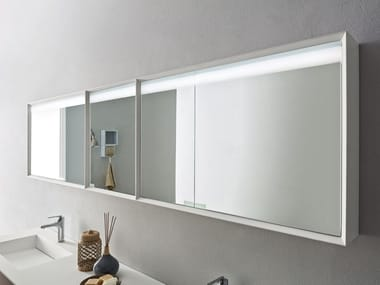 Rectangular wall-mounted mirror with cabinet KIKKO | Rectangular mirror