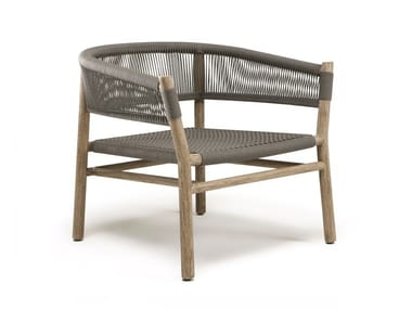 Garden rope easy chair with armrests KILT | Easy chair