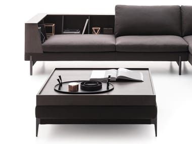 Rectangular fabric coffee table KIM | Coffee table