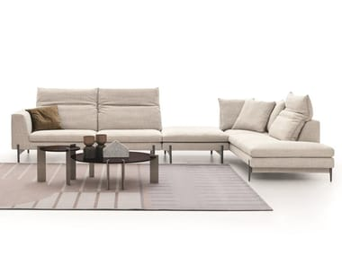 Sectional fabric sofa KIM HIGH | Sectional sofa