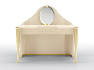 Dressing table covered in leather KIMBERLY   Dressing table
