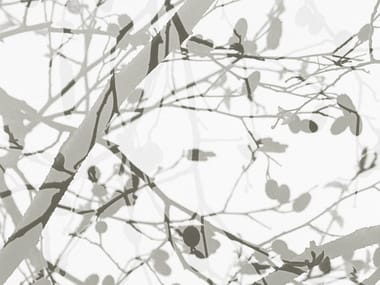 Non-woven paper wallpaper with floral pattern KIMIKO