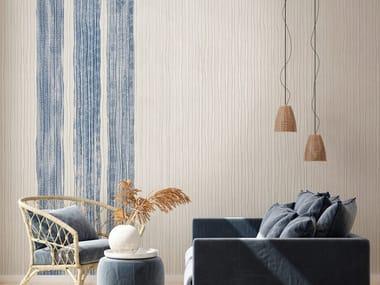 Contemporary style striped fabric wallpaper KIMONO