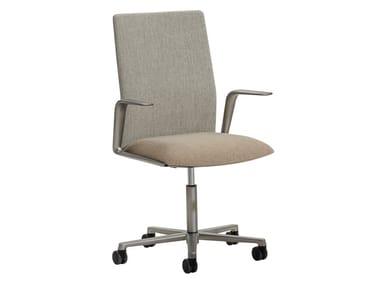 5-Speichen- Bürostuhl aus Stoff mit medium Rückenlehne KINESIT MET | Bürostuhl mit medium Rückenlehne