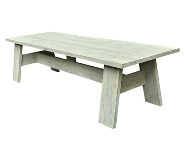Rectangular teak garden table KING | Table