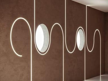 Extruded aluminium linear lighting profile KIPS ROUND