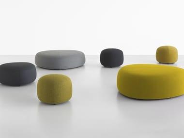 Upholstered fabric pouf KIPU
