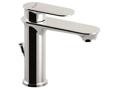 1 hole brass washbasin mixer 88003 | Washbasin tap with automatic pop-up waste
