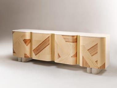 Wooden sideboard with doors KISHO