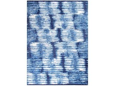 Patterned rectangular cotton rug KITO