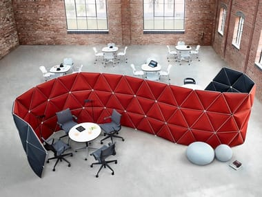 Sound absorbing modular office screen KIVO