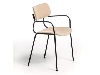 Fabric chair with armrests KIYUMI FABRIC AR | Chair