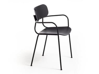 Multi-layer wood chair with armrests KIYUMI WOOD AR | Chair