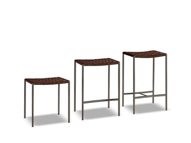 Garden stool with footrest KLASEN STOOL OUTDOOR