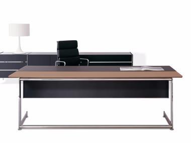Escritorio de oficina rectangular de madera KN | Escritorio de oficina de madera