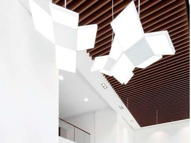 Pannelli per controsoffitto in metallo effetto legno KNAUF ARMSTRONG EFFECTS ON METAL
