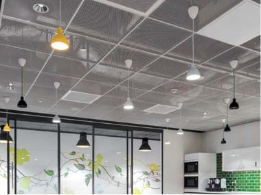 Wire mesh ceiling panels KNAUF ARMSTRONG MESH LAY-IN
