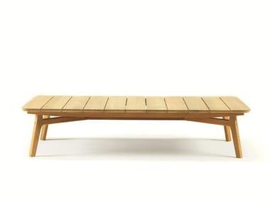 Rectangular teak garden side table KNIT | Rectangular coffee table