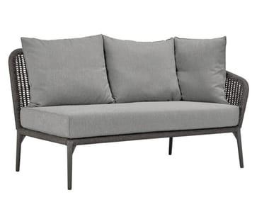 Olefin rope and aluminium 2 seat module for sofa KNOT MODULE 2 SEAT