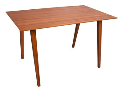 Rectangular solid wood dining table KOA