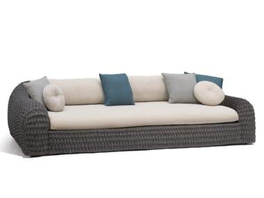3 seater rope garden sofa KOBO | Sofa