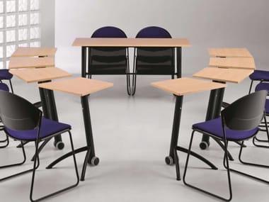 Folding MDF bench desk with castors KOMBY 935