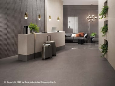 Porcelain stoneware flooring with concrete effect KONE FLOOR | Flooring