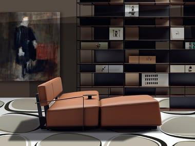 Sofá modular de cuero KONG | Sofá de cuero