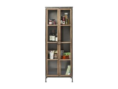 KONTOR   Wood And Glass Display Cabinet